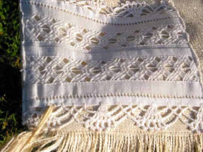 white shawl fringe